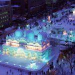 雪祭のライトアップ時間とプロジェクションマッピングされる雪像は?