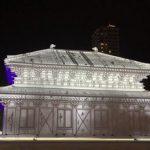 札幌雪祭りで興福寺の中金堂がプロジェクションマッピングに!